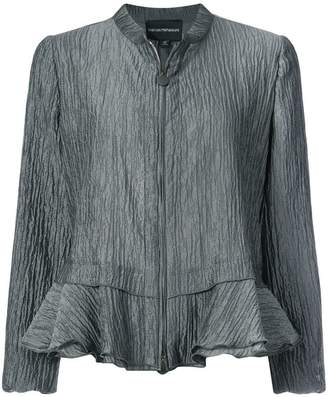 Emporio Armani crimped peplum detail jacket