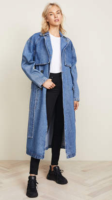 MSGM Denim Trench Coat