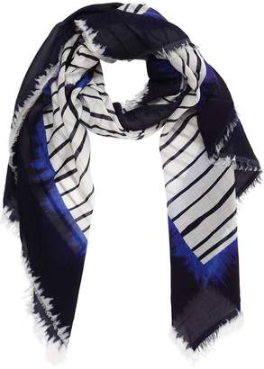 Faliero Sarti Striped Cotton Scarf