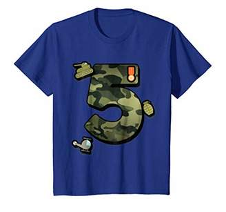 Fifth Birthday Party 5th Camouflauge T-Shirt Born 2012