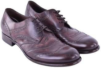 Dolce & Gabbana Brown Leather Lace ups