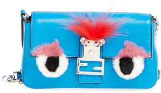 Fendi 'Monster' Genuine Rabbit Fur & Genuine Fox Fur Micro Baguette