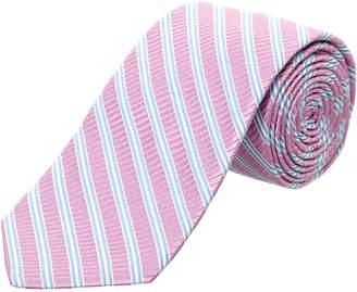 Ike Behar Lilac Cabana Stripe Silk Tie