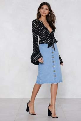 Nasty Gal Button to It Denim Skirt