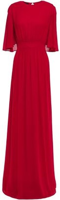 Giambattista Valli Cape-effect Gathered Crepe Gown