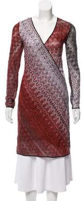 Missoni Abstract Print Long Sleeve Dress