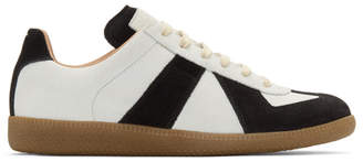 Maison Margiela Black and White Replica Sock Sneakers