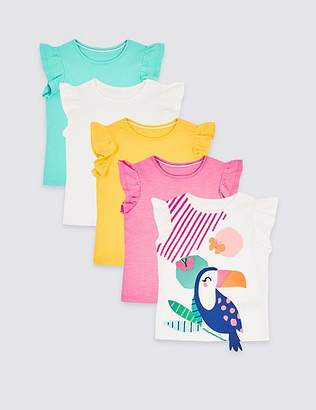 Marks and Spencer 5 Pack Toucan T-Shirts (3 Months - 7 Years)