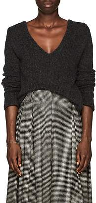 The Row Women's Aetra Brushed Cashmere-Blend Sweater - Dark Grey