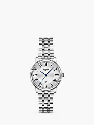 Tissot T1222101103300 Women's Carson Date Bracelet Strap Watch, Silver