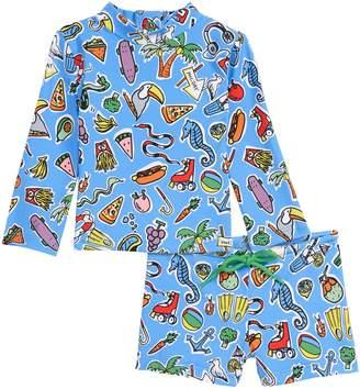 fde0fa2af5 Stella McCartney Kids Print Two-Piece Rashguard Swimsuit