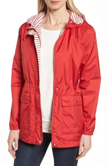 Solid to Stripe Reversible Jacket