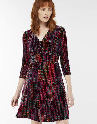 Monsoon Selina Spot Velvet Print Dress