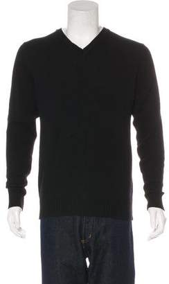 Calvin Klein Collection Wool-Blend V-Neck Sweater