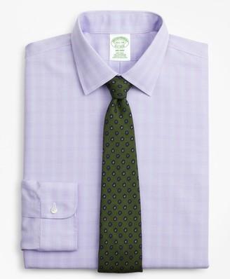 Brooks Brothers Milano Slim-Fit Dress Shirt, Non-Iron Glen Plaid