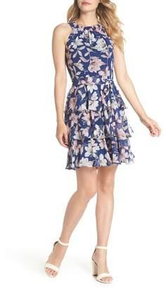 Eliza J Tiered Chiffon Dress (Regular & Petite)