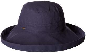 Scala Women's Cotton Big Brim Ultraviolet Protection Hat with Inner Drawstring