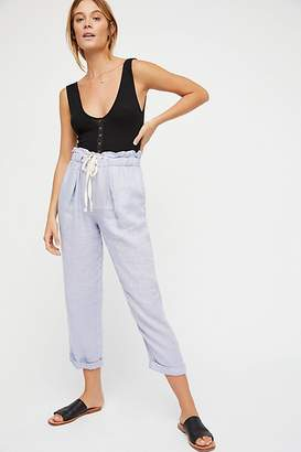 Only Over You Linen Straight-Leg Pants