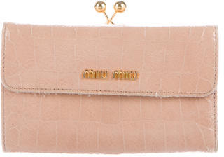 Miu Miu Miu Miu Embossed Leather Wallet