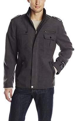 Stacy Adams Men's Big-Tall Tao Zippered Waist Length Top Coat