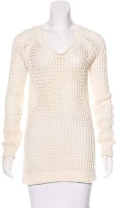 Torn By Ronny Kobo Open Knit Long Sleeve Sweater