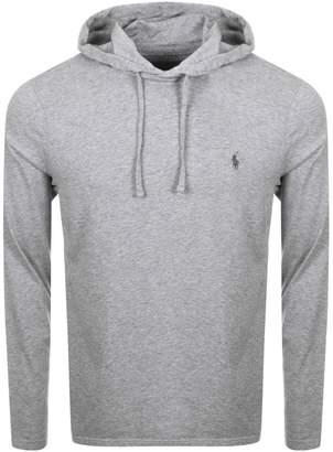 Ralph Lauren Long Sleeved Hooded T Shirt Grey