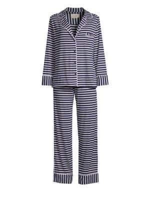 MAISON DU SOIR Monaco Long-Sleeve Pajamas