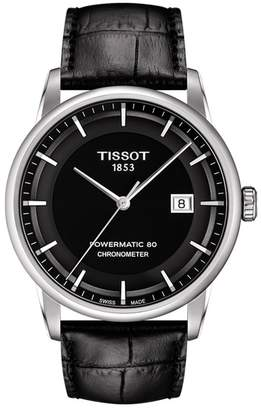 Tissot Men's Luxury Powermatic 80 COSC Leather Watch, 41mm