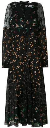 RED Valentino floral printed sheer dress