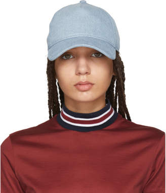 Rag & Bone Blue Denim Marilyn Baseball Cap
