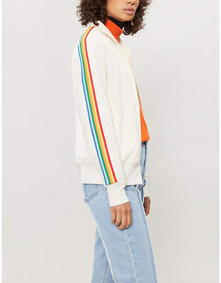 Palm Angels Rainbow side-stripe jersey jacket