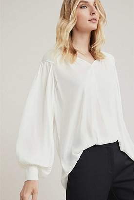Witchery OCRF Pleated Shoulder Blouse