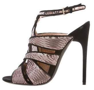 Tom Ford Sequin Cutout Sandals