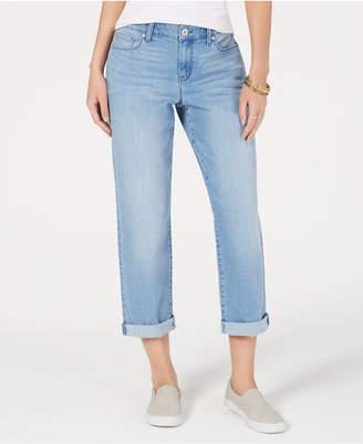 adcf90c4480383 Style&Co. Style & Co Petite Curvy-Fit Boyfriend Ankle Jeans