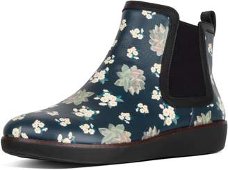 FitFlop Chai Dark Floral Leather Chelsea Boots