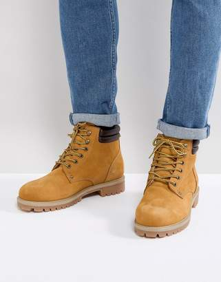 Jack and Jones Nubuck Boots With Warm Lining