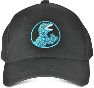 Paul Smith Black Dino Printed Cotton Baseball Hat