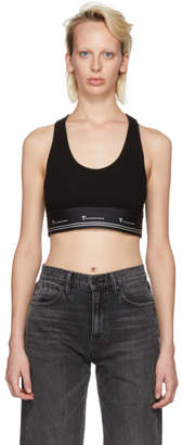 Alexander Wang Black Compact Sports Bra