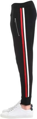 Neil Barrett Slim Visoces Sweatpants W/ Stripes