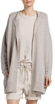 James Perse Drop Shoulder Open Cardigan
