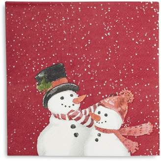 Sur La Table Snowman Cocktail Napkins, Set of 20