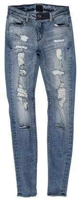 RtA Denim Low-Rise Skinny Jeans