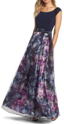 Women's Eliza J Mixed Media Ballgown $188 thestylecure.com