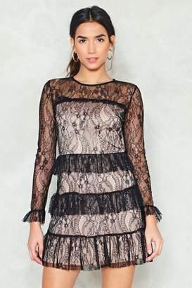 Nasty Gal Lace It Head-On Ruffle Dress