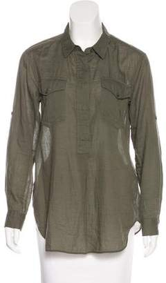 Closed Collared Oversize Top