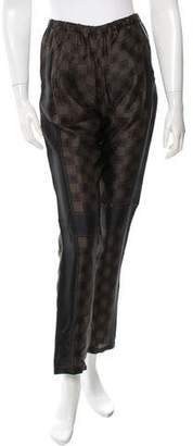 Hache Printed Satin Pants w/ Tags