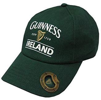 Guinness Official Merchandise Bottle Baseball Cap With Bottle Opener And Ireland Est. 1759 Text