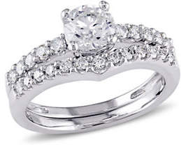 HBC CONCERTO 14K White Gold 0.89 TCW Diamond Bridal Set