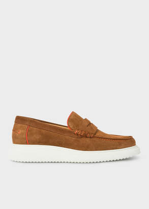 Paul Smith Men's Tan Suede 'Eddie' Loafers