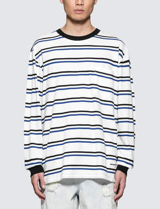 Alexander Wang Lightweight Twist Striped L/S T-Shirt